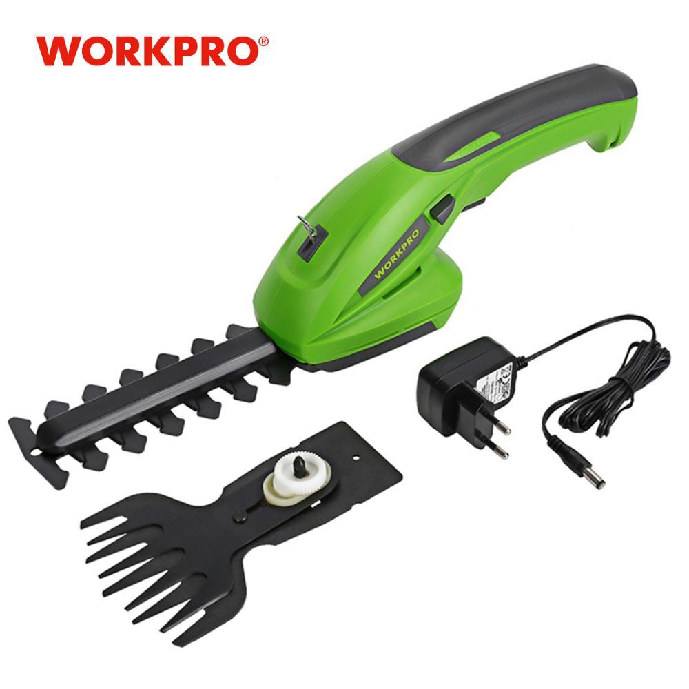 Tondeuse électrique 7.2 V 2 en 1 outils de jardin sans fil au lithium-ion taille-haie, taille-haies rechargeables pour herbe