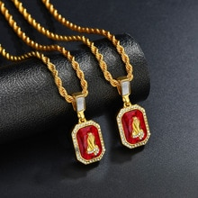 Hip Hop jésus collier en Europe et en amérique Hip Hop Trendsetter salut-hop prière main pendentif vendu rapidement à travers un collier médaillon