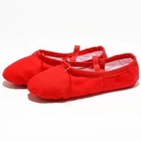 ushine eu22 45 red cloth head yoga slippers teacher gym indoor exercise canvas ballet dance shoes children kids girls woman