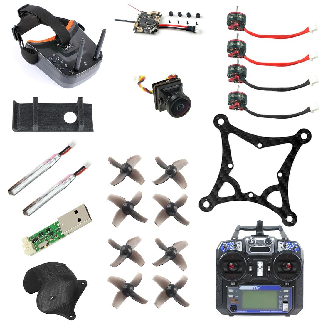 Diy 85mm fpv zangão conjunto completo versão padrão crazybee f4 lite turbo eos2 câmera LST-009 fpv óculos de controle remoto fs i6
