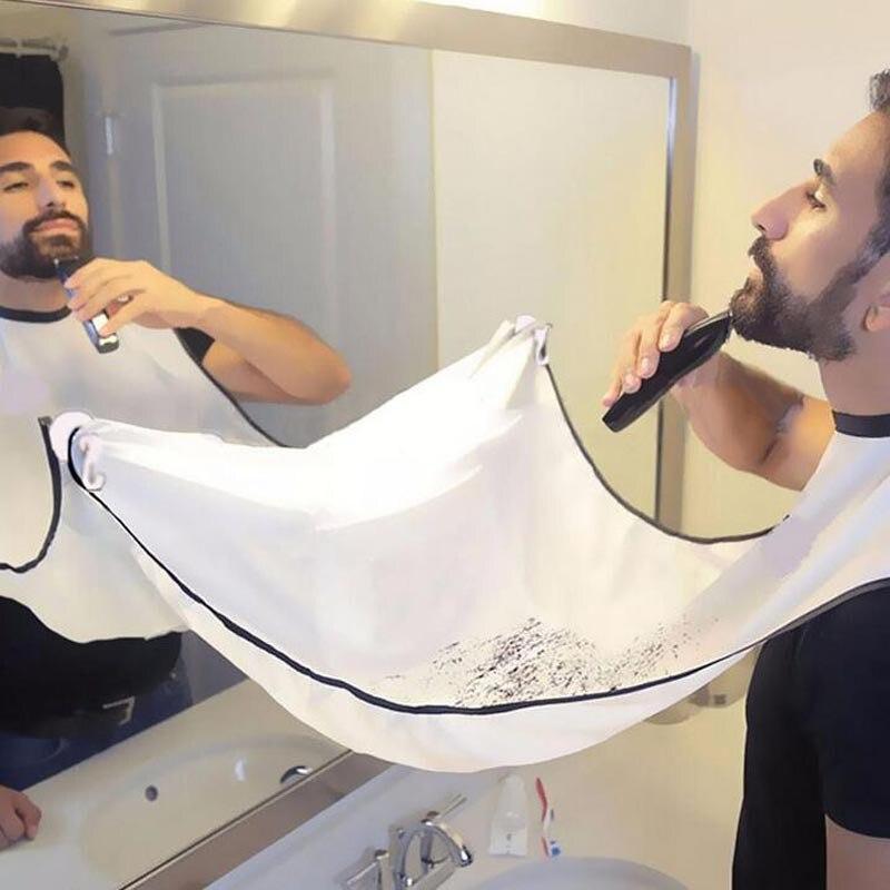 Avental de barbear para homens, toalha pequena de barba, limpeza de barba, pano floral à prova dágua para uso doméstico