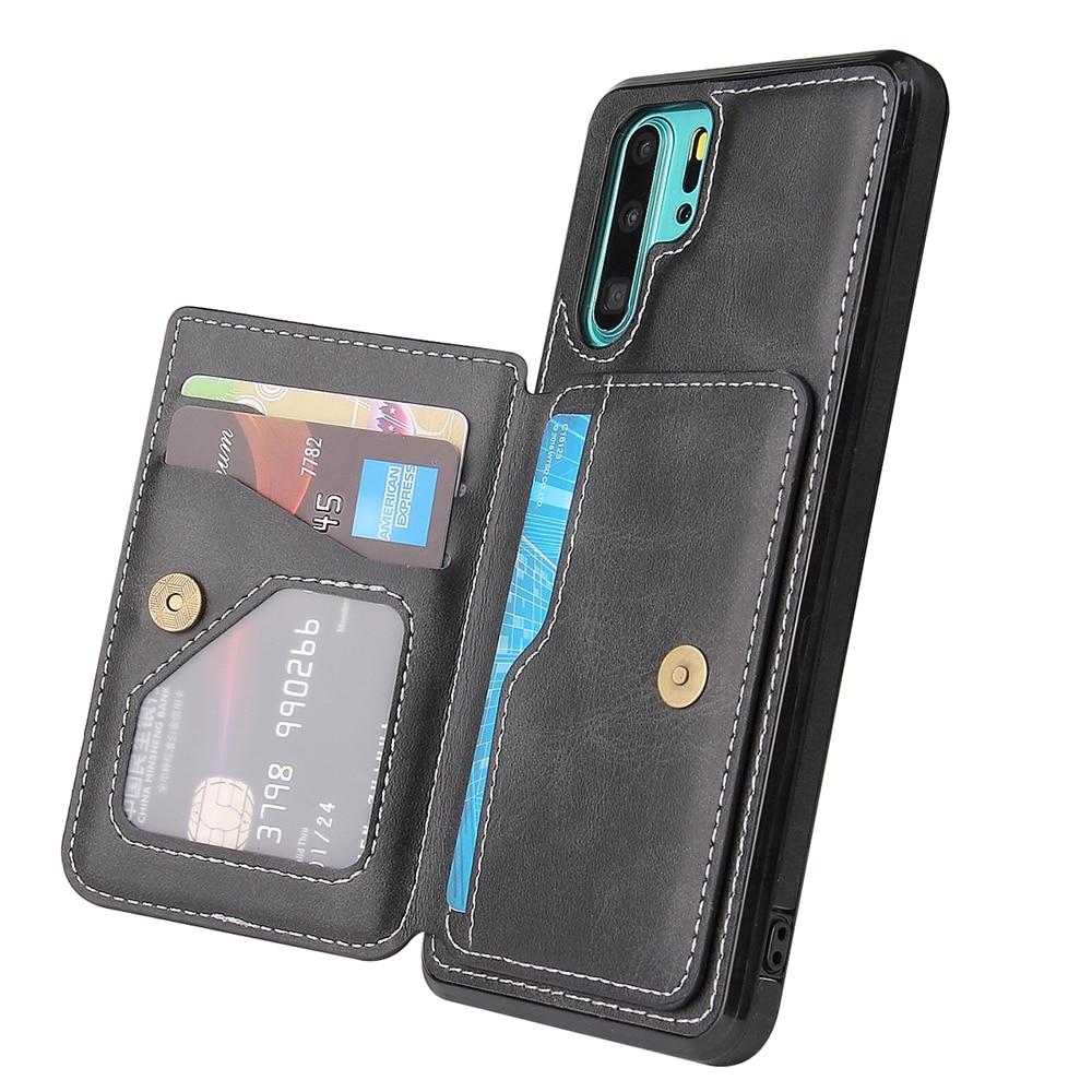 Adecuado para Huawei funda de teléfono móvil P30 P30Pro P40 P40Pro Mate30 Mate30Pro funda protectora de cuero de color sólido