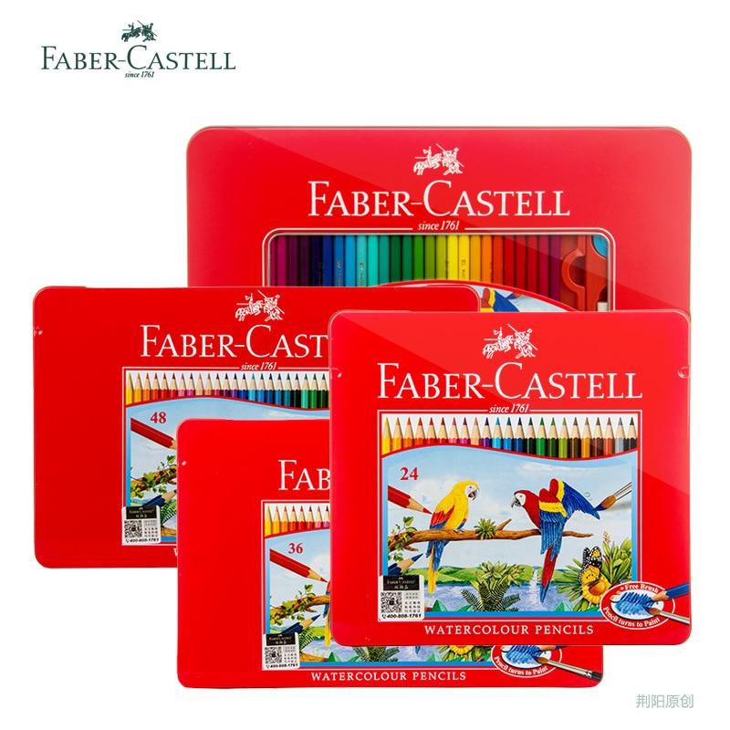 Faber-Castell Watercolor Color Pencil Set Iron Box Colored Rainbow Drawing Colour Pencil Coloring Watercolour Art Supplies