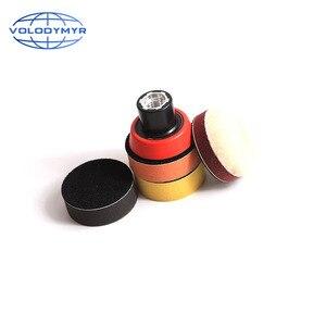 Image 2 - Набор для полировки дрели, полировальная Подушка 1, 2 или 3 дюйма, включает в себя красную губку для обработки воском, автомобильный буфер, полировщик для полировки