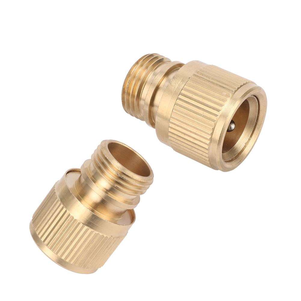 """1/2 """"rosca externa de latón conector rápido de cobre para jardín conector de agua adaptadores de junta para grifo de agua para lavado de coches acoplamiento de tuberías 2 uds"""