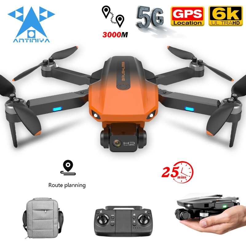RG101 جديد لتحديد المواقع بدون طيار المهنية 4K 6K HD كاميرا مزدوجة 5G واي فاي درون فرش السيارات RC طوي كوادكوبتر هليكوبتر VS M1 برو