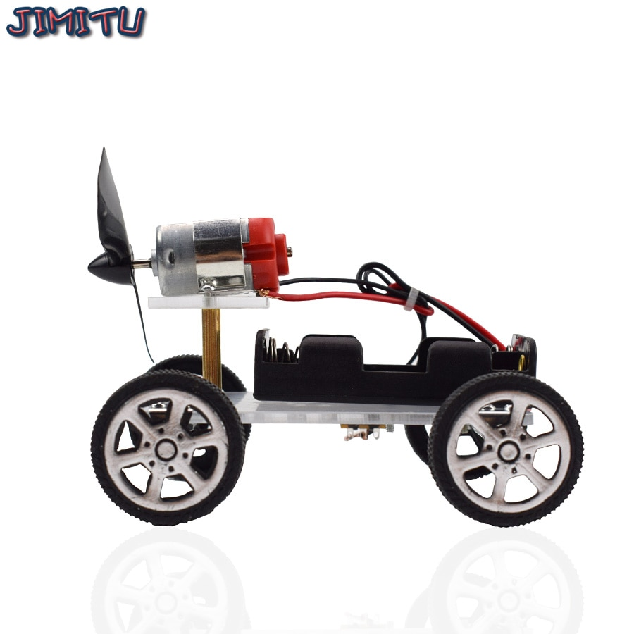 Wind Power Car DIY Electronic Kit Technology Science Toys Educational Kits for Children Experiment C