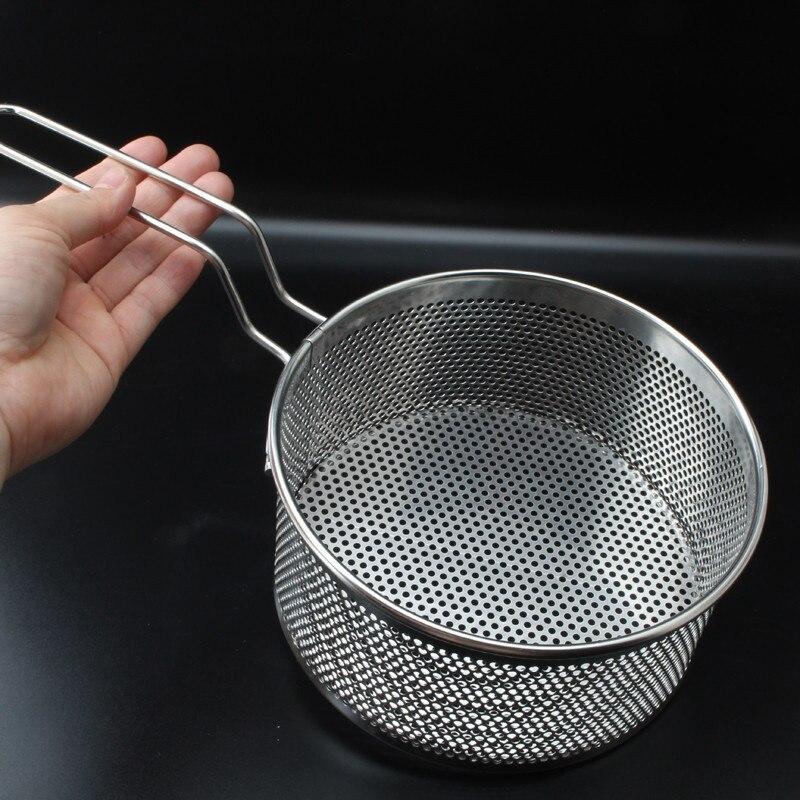 Новый 304 Нержавеющая сталь жарки жареная корзина фильтр для сковороды еда