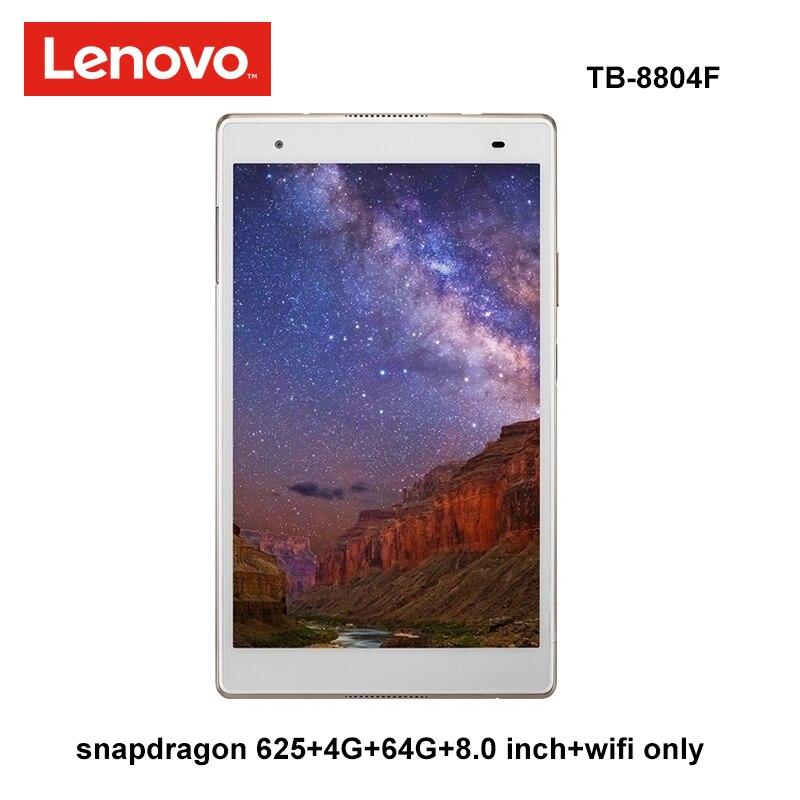 Lenovo Yi 8,0 pulgadas snapdragon 625, 4G Ram 64G Rom 2,0 Ghz octa core Android 7,1 de oro de 4850mAh tablet PC WiFi tb-8804F