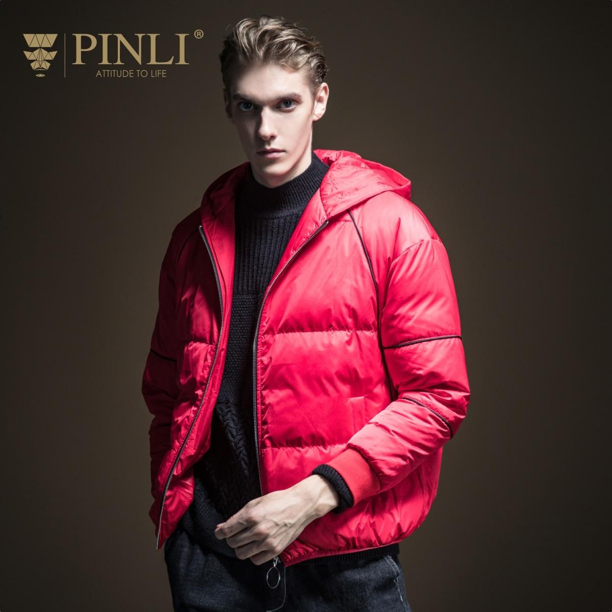 Doudoune précipitée veste nouveauté 2019 vente Sobretudo Pinli hiver hommes couleur unie courte à capuche décontracté manteau B194208811