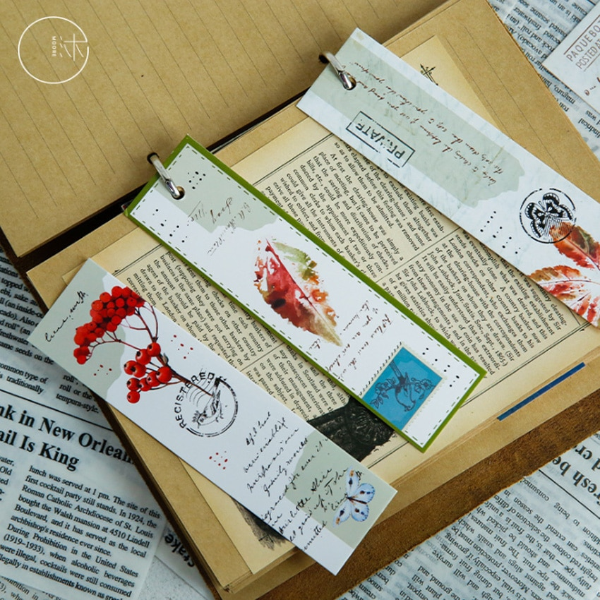 30 unids/pack corazón cálido gato privado regalos favoritos papelería lindo marcadores libro para bricolaje marcas Oficina escuela suministros