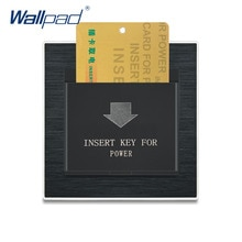 Hotel Insert Key Switch Card Switches Wallpad Luxury Wall Light Switch Satin Metal Panel Interrupteur