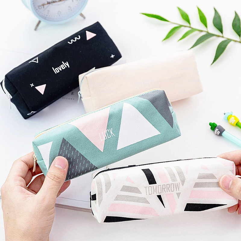 simple black pencil student school pen environmental plastic shell hb pencil learning office stationery supplies 1PC Fashion Canvas Pencil Case Stationery Pouch Cute Pencil Case Office Student Pencil Cases Nylon School Supplies Pen Box