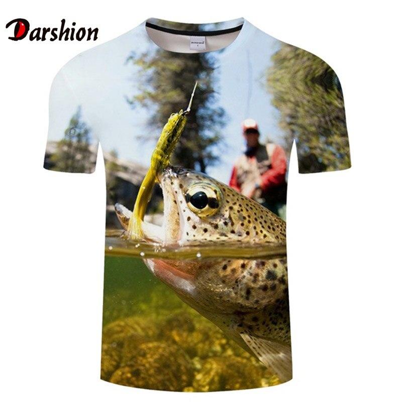 Offre Spéciale drôle tropique poisson T-shirt pour hommes mode T-shirt 3D impression à manches courtes T-shirt hommes vêtements Streatwear grande taille 4XL