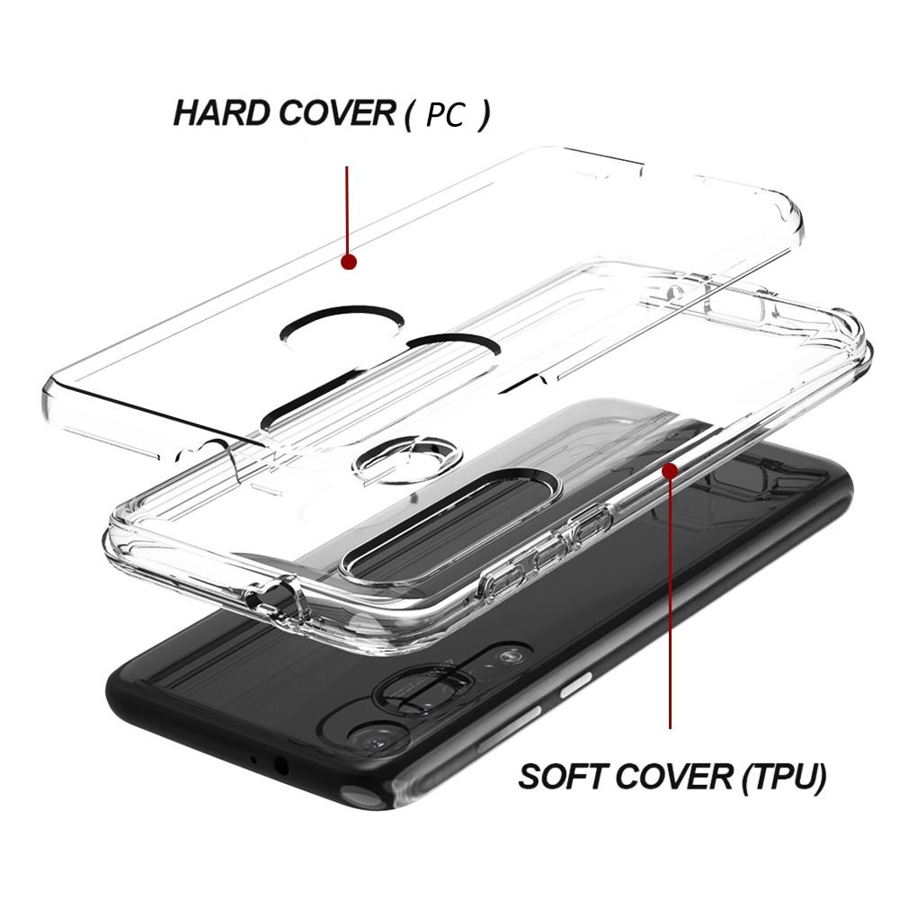 Claro tpu caso híbrido à prova de choque para motorola e5 g8 plus g6 g8 jogar g7 power um pro zoom macro macio tpu duro capa traseira