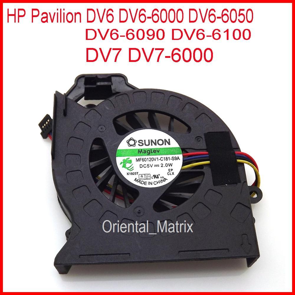 Free Shipping Brand NEW MF60120V1-C181-S9A AD6505HX-EEB For HP Pavilion DV6 DV6-6000 DV6-6050 DV6-6090 DV6-6100 CPU Cooler Fan