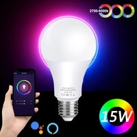 WiFi Smart Light Colorful E27 B22 RGB Setting-time Wireless WLAN Control APP Work with Alexa or IR Remote Controller Lamp