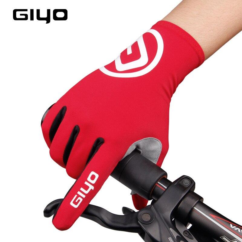 Guantes GIYO para ciclismo, dedos largos y completos, guantes para ciclismo, ciclismo de carretera, ciclismo de montaña, guantes de carrera para mujeres y hombres, guantes para bicicleta, S-02-L