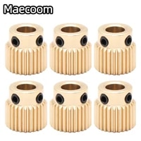 mk7 mk8 extrusion gear 26 40 tooth teeth brass drive gear feeding gear wheel for anet a8 ender3 cr10 3d printer extruder