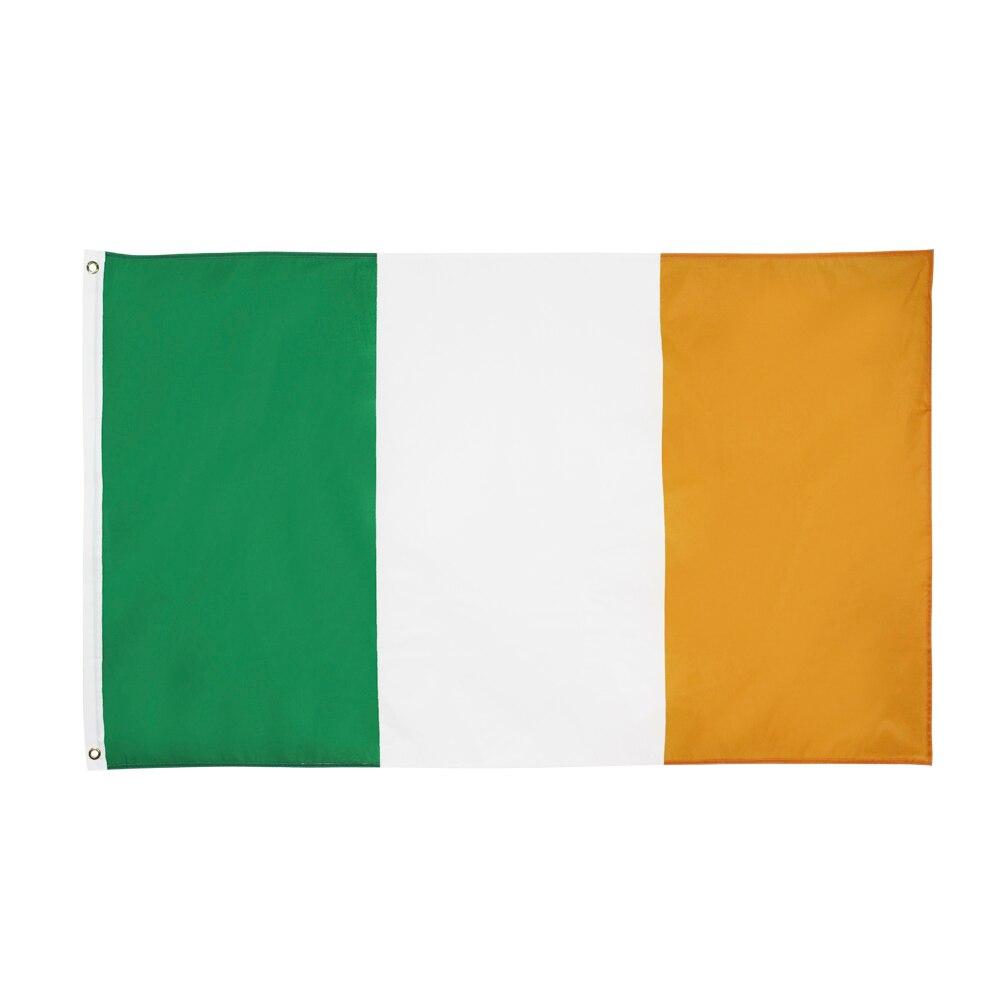 Colgante 90X150cm verde blanco naranja IR Bandera de Irlanda