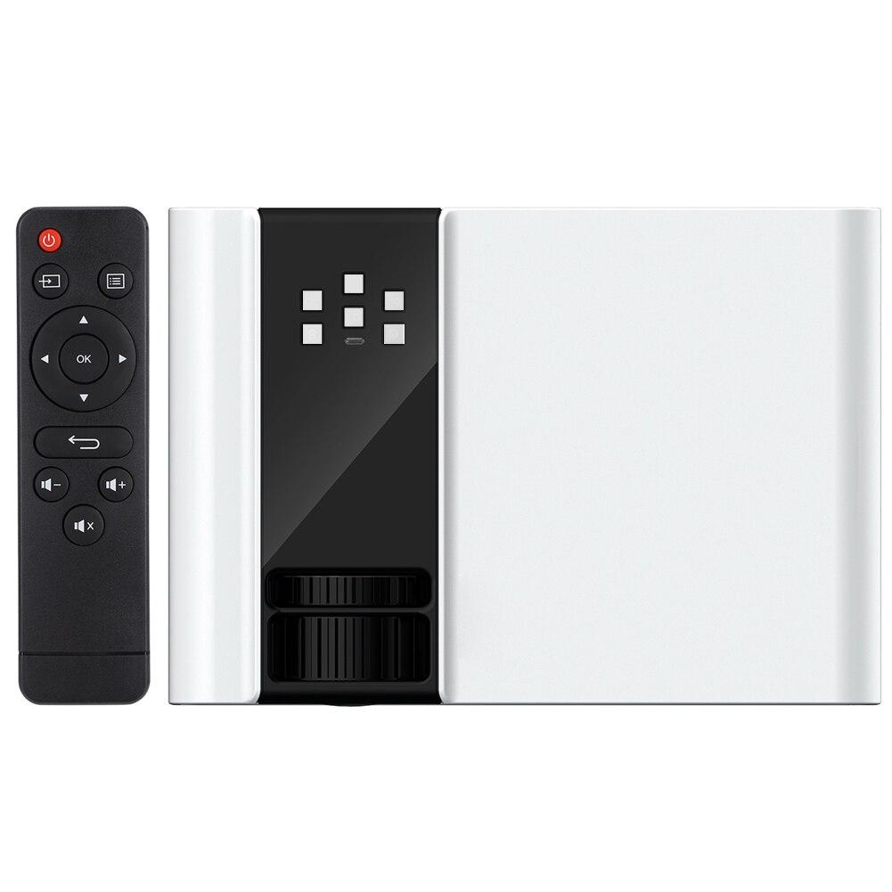 W10 المحمولة جدا HD 1080P جهاز عرض (بروجكتور) ليد الأبيض جهاز إسقاط السينما المنزلية 110-240V جهاز عرض (بروجكتور) ليد