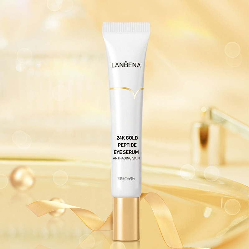 24K peptide eye serum Collagen Serum Anti Puffiness Anti-Wrinkle Anti-aging Dark Circles Removal Eye