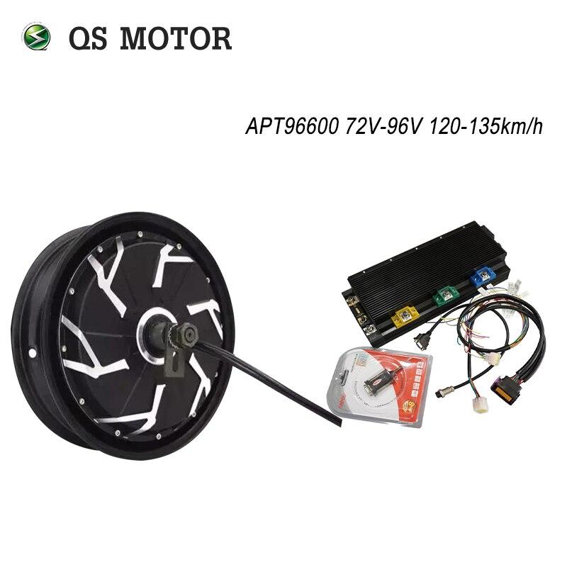 QS Motor super 12 pulgadas 12000W 260 70H V4 scooter de motor de cubo 72-96V 120 km/h con APT96600 controlador de sistema kits