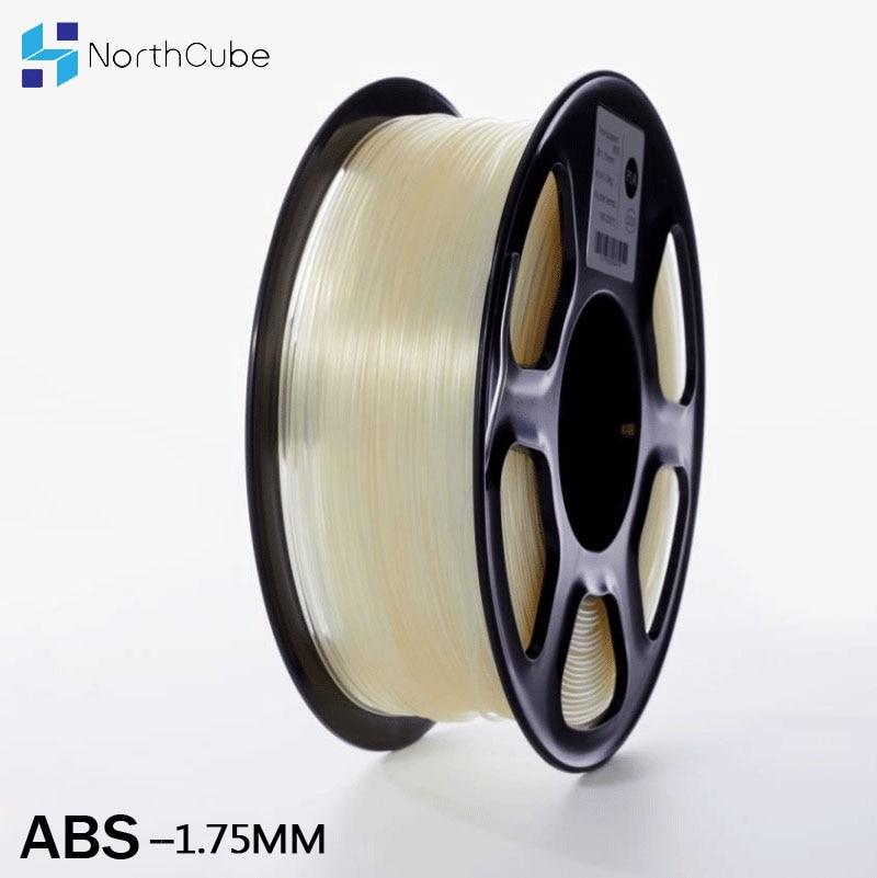 NorthCube خيط ABS 3D طابعة خيوط 1.75 مللي متر 1 كجم الطباعة المواد 3D طباعة بلاستيكية خيوط ABS شفافة