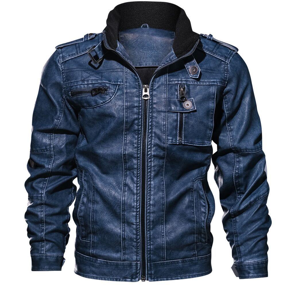 Деловые велюровые куртки для мужчин, кожаные куртки для мотоциклистов, большие мужские накладки, американский размер, плутонио, casacos motoc