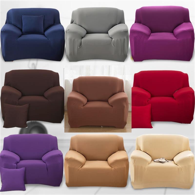 Funda de sofá elástica única sólida, Universal, Universal, elástica, funda de sofá rojo gris, moderna funda de sofá de esquina