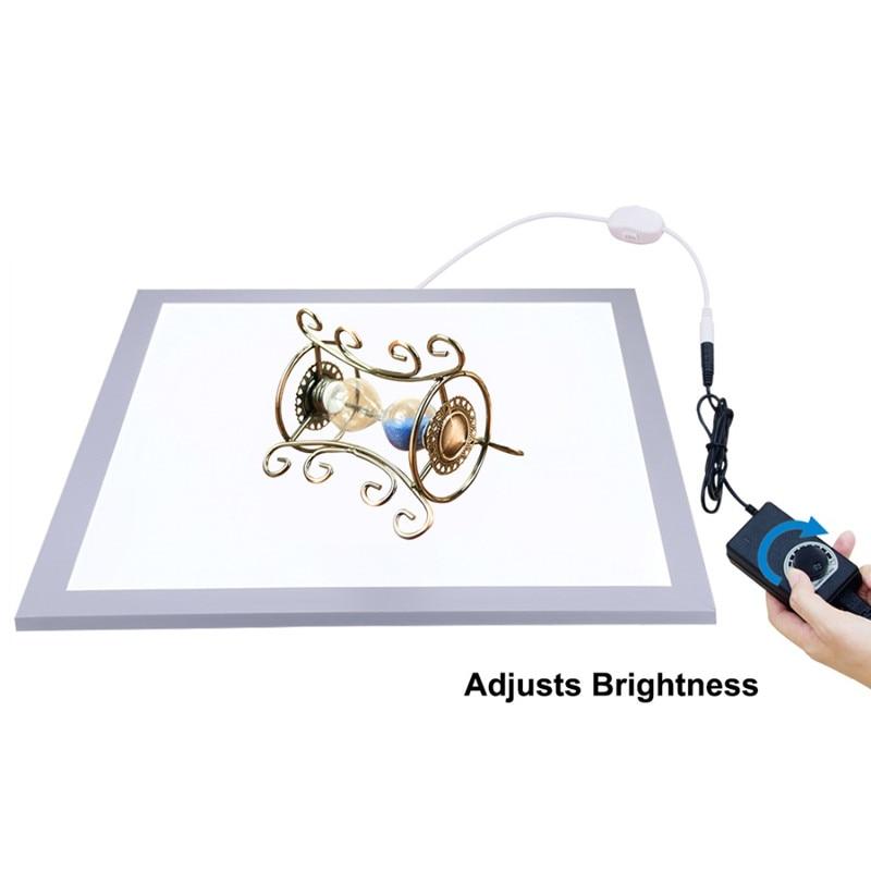 38cm led fotografia fundo shadowless luz painel da lâmpada almofada fotografia luzes de preenchimento escurecimento para estúdio de fotografia caixa lightboxs