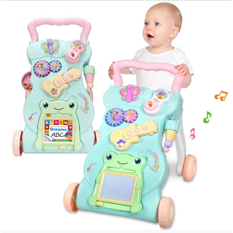 Juguete para bebés, coche multifunción antivolteo y anti-piernas, coche musical para niños pequeños