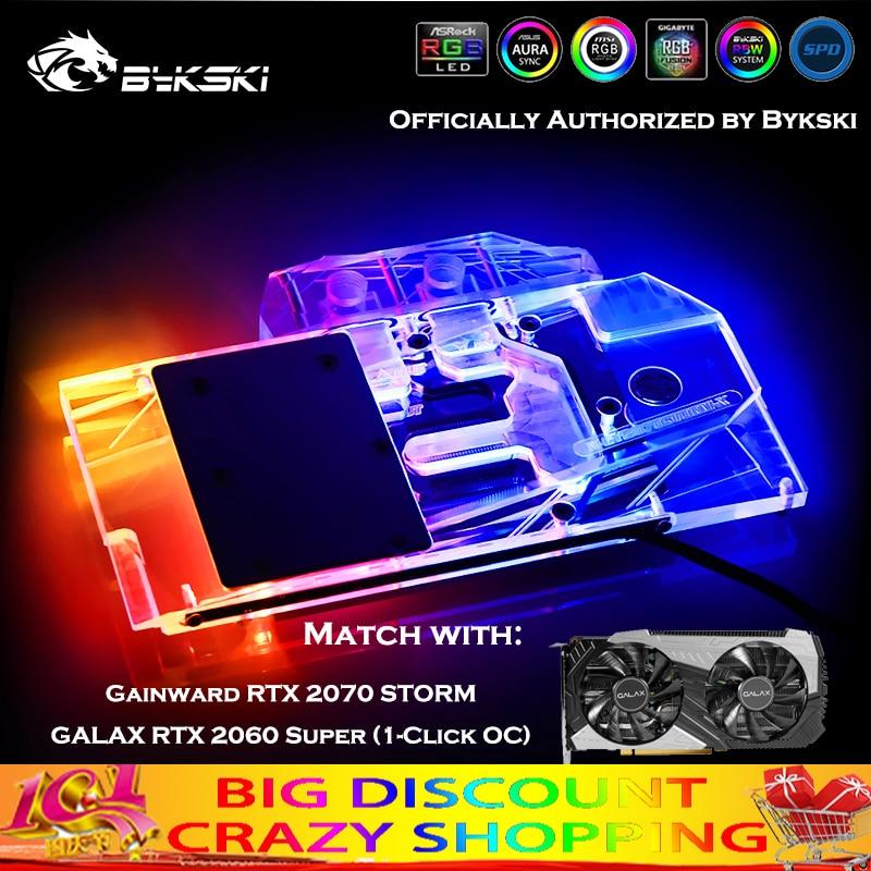 Bykski N-GY2070STORM-X تغطية كاملة وحدة معالجة الرسومات كتلة المياه ل Gainward RTX2070 العاصفة/غالاكس RTX2060 سوبر (1 انقر OC) برودة المبرد