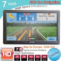 7 inch HD GPS Portable Navigation 2020 Maps for Europe Russia Car TRUCK CAMPING Caravan Navigator Sat Nav Free Lifetime maps