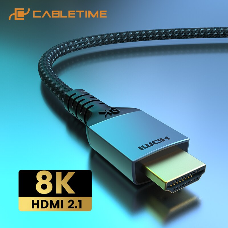 hd para o Portátil Cabletime Premium Hdmi Cabo Hdr – 60hz 4k 144hz Ultra Macbook Lenovo Hdtv lg Sony Vídeo C388 2021 8k