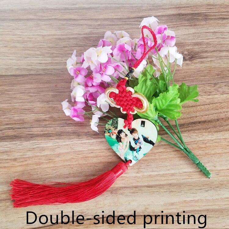 شحن مجاني 15 قطعة/الوحدة جديد نمط التسامي فارغة MDF الصينية عقدة مطبوعة على كلا الجانبين ل التسامي الحبر طباعة DIY الهدايا