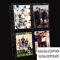 50pages lot 4 pocket A6 soft Photo Album Cards Page for Post Cards Currency Collection Board Game Large Size Card