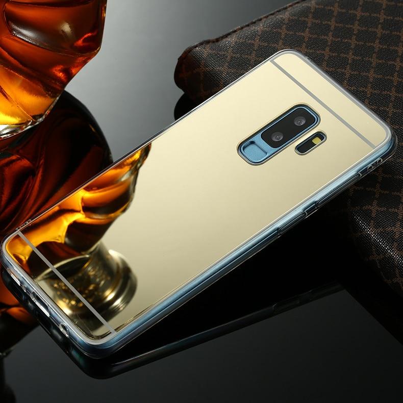 Original Luxury Mirror TPU Case For Samsung Galaxy S8 S9 A6 A8 Plus 2018 S7 S6 Edge A3 A5 A7 J3 J5 J