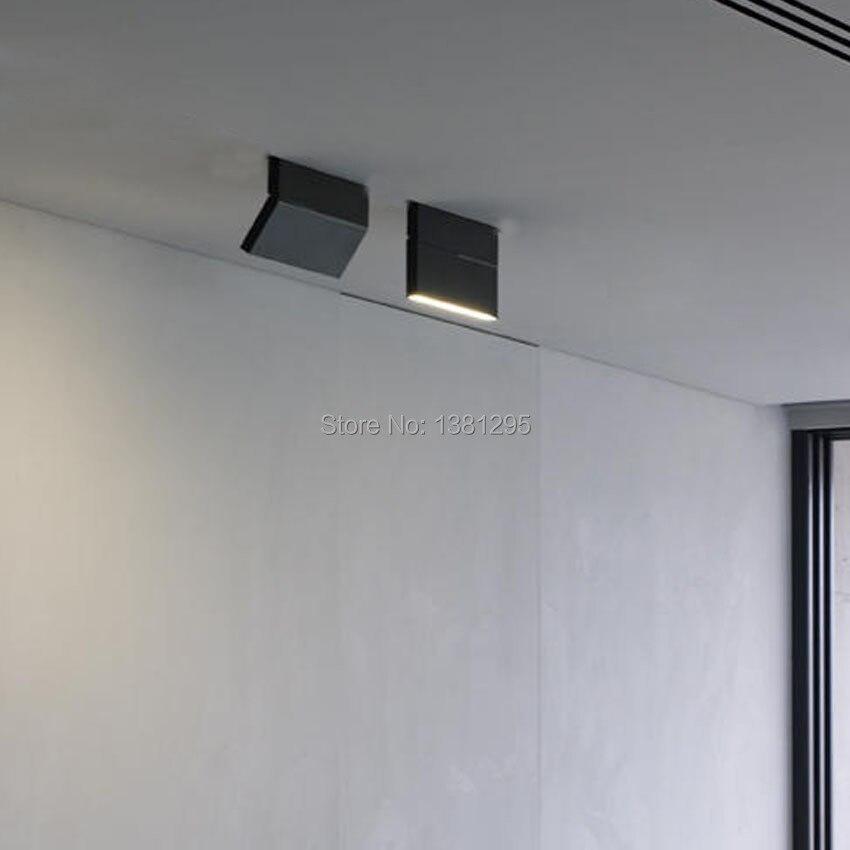 1 قطعة LED سطح شنت النازل الأضواء 12 واط أسود أبيض تدوير 3000K 4000K 6000K مصباح منزل سقف قابل للتعديل بقعة ضوء