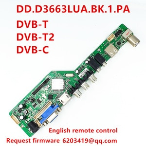 New LCD motherboard DD.D3363LUA.BK.1.PA Support DVB-T DVB-T2