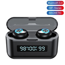 TWS Wireless Bluetooth Earphone Stereo Noise Canceling Headset LED Earbuds With Charging Case Touch