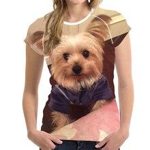 Camiseta con estampado 3D de perro para hombre y mujer, ropa con cuello redondo de manga corta, de gran tamaño, a la moda, de verano, XXS-6XL