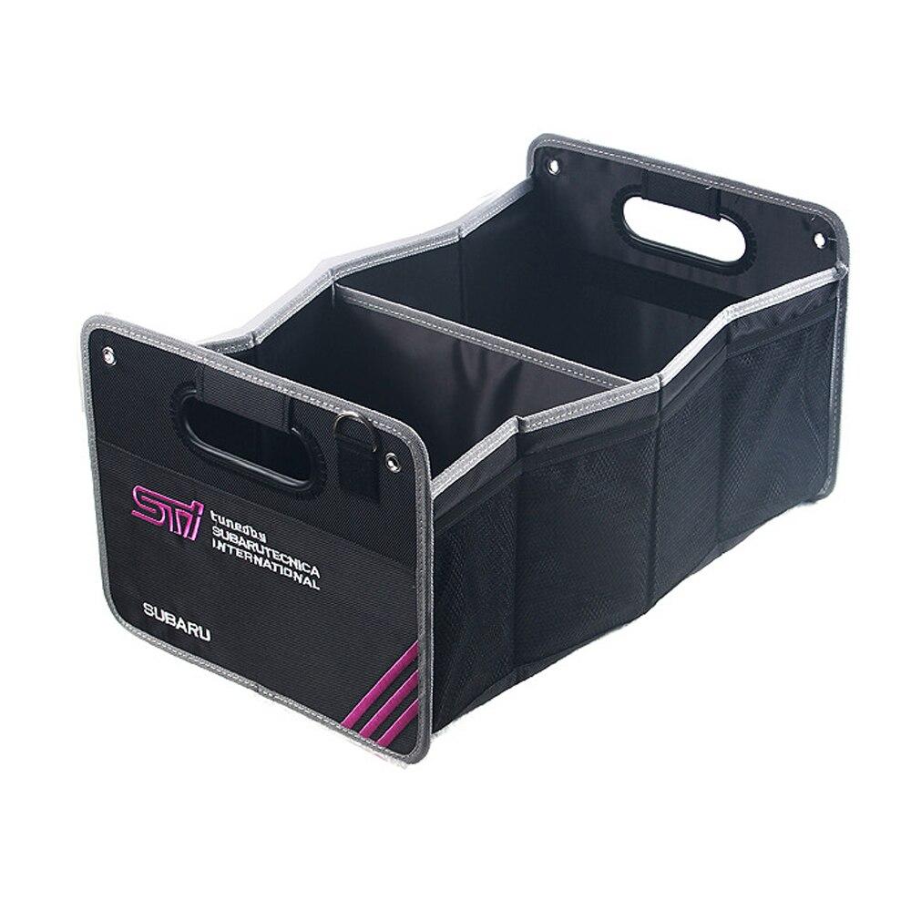 Mala do carro arrumação organizador caixa de armazenamento oxford pano bagagem recipiente saco para subaru forester impreza legacy outback justy