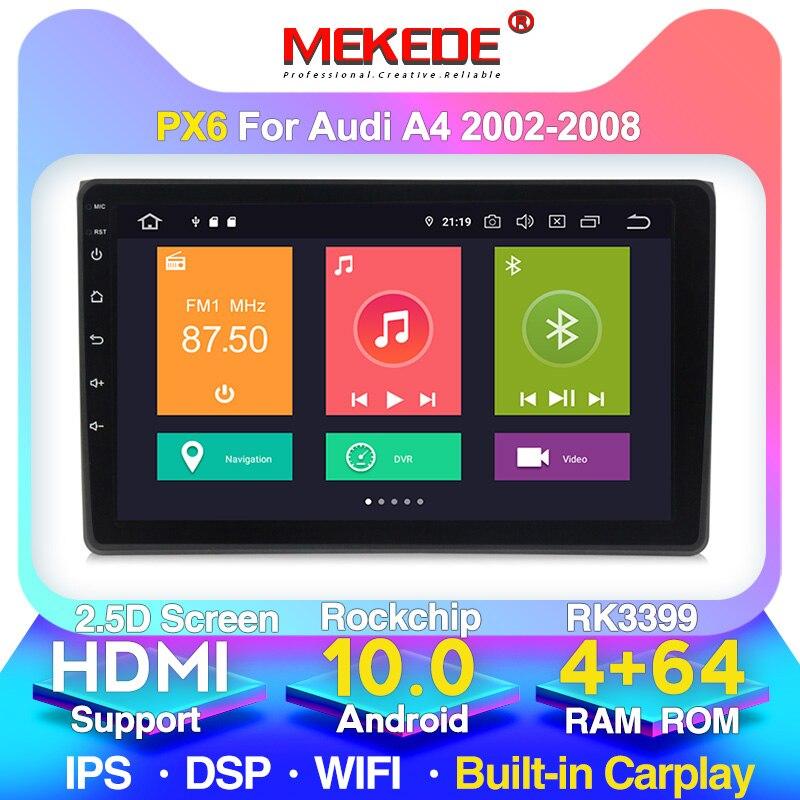 MEKEDE HD 1280x720 4G LTE Auto multimedia-Player Navigation GPS radio für Audi A4 B6 B7 S4 carplay WIFI bluetooth FM