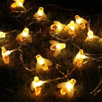 battery operated 10leds 20leds 40leds bee shaped led string lights christmas holiday party garden decorative fairy lights