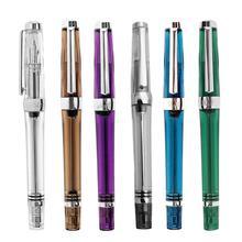Nouveau 3013 stylo plume sous vide résine EF 0.38mm  F 0.5mm stylo à encre plume Transparent/violet/marron/bleu/vert