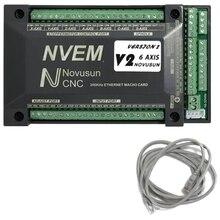 Pour NVUM 6 axes Cnc graveur Mach3 USB carte 300KHz 6 axes CNC Machine de forage carte de contrôle de mouvement carte de rupture
