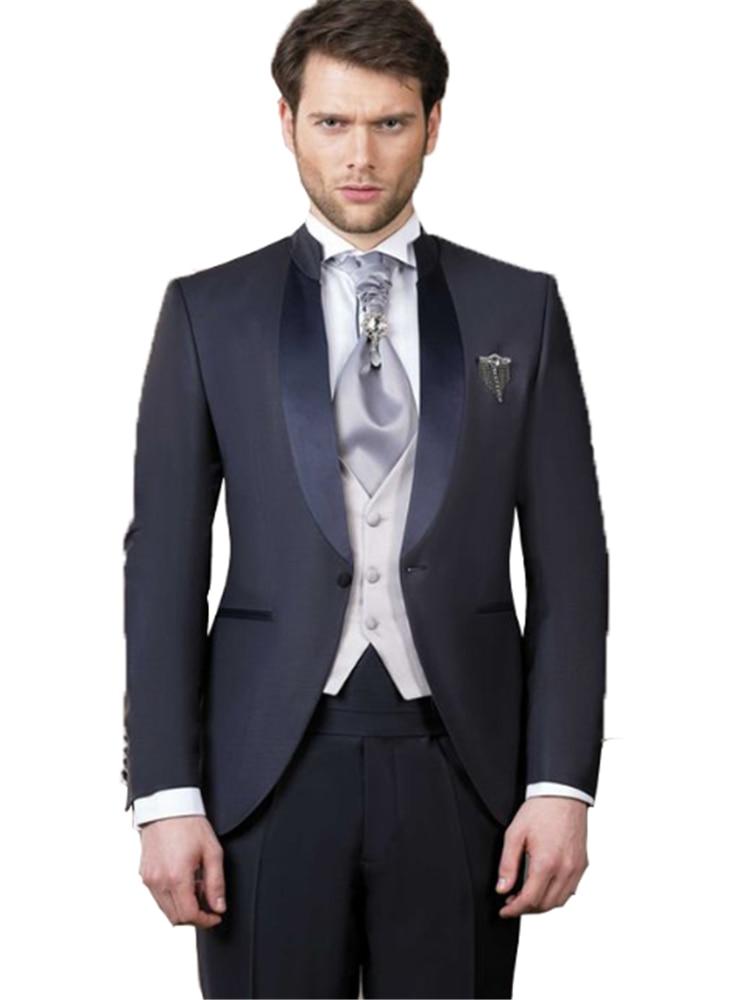 Traje ajustado de un botón para hombre para chaqueta de boda +...