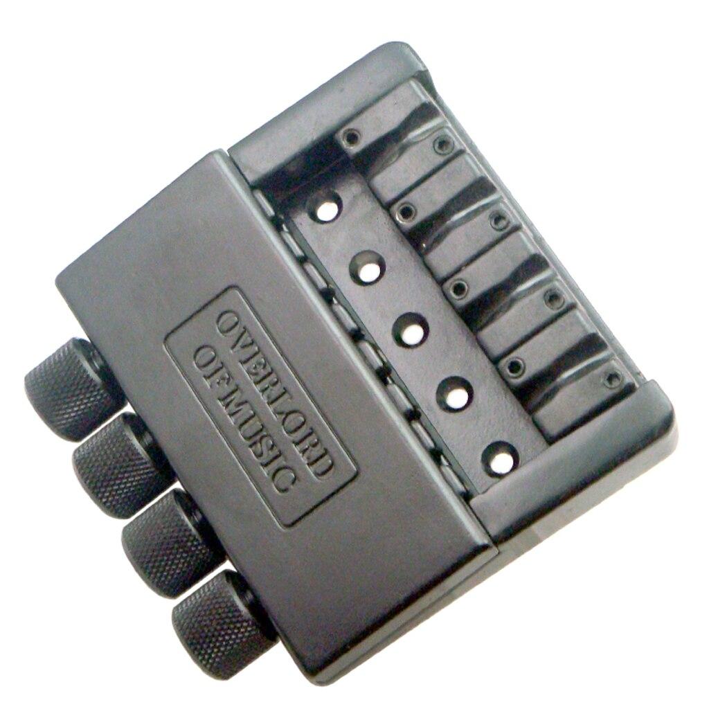 1 Set Schwarz 4 String Headless Bass Gitarre Brücke System Elektrische Bass Teile