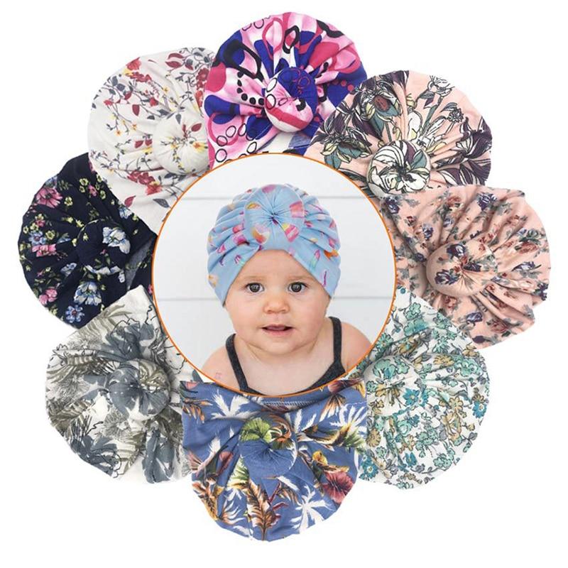 Cotton Baby Headband Infant Turban Knot Headbands Accessories baby hat Head Wrap Headwear For Girls Faixa Cabelo Para Bebe